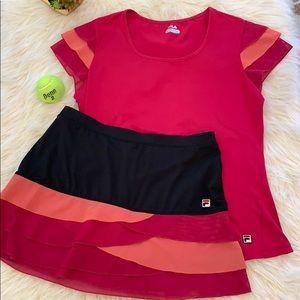 EUC FILA Tennis 🎾 Outfit